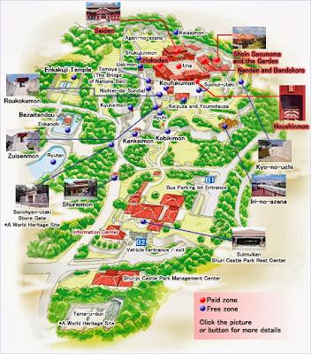 แผนผังปราสาทชูริ (Shuri Castle)