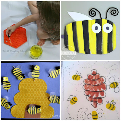 honey bee crafts  activities for national honey month in september