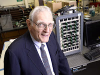 John Goodenough, co-inventor of the lithium-ion battery, heads a team of researchers developing the technology that could one day supplant it. (Photo Credit: Cockrell School of Engineering) Click to Enlarge.