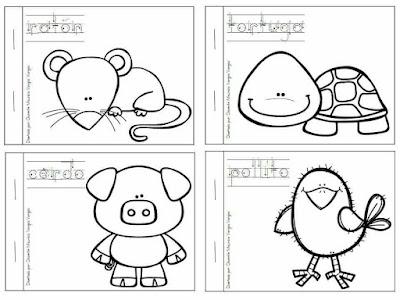 Imágenes de fichas educativas para colorear