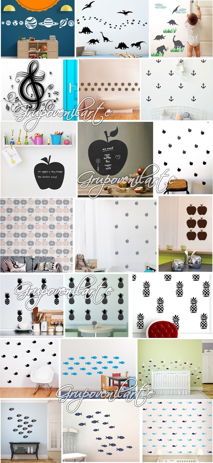 vinilos decorativos para paredes hogar decoraci n beb s