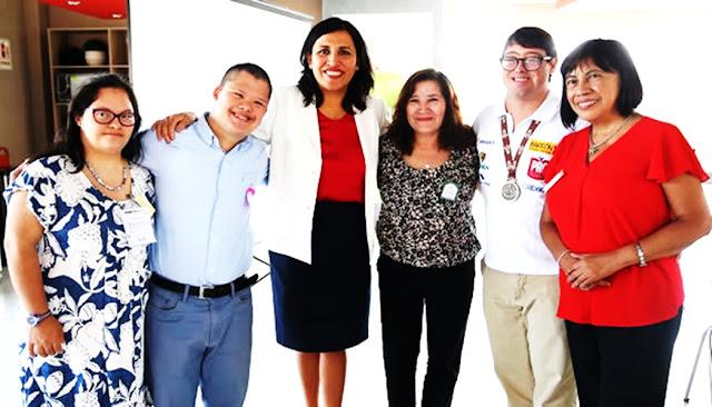 Flor Pablo en una jornada de sensibilización con motivo del Día Mundial del Síndrome de Down