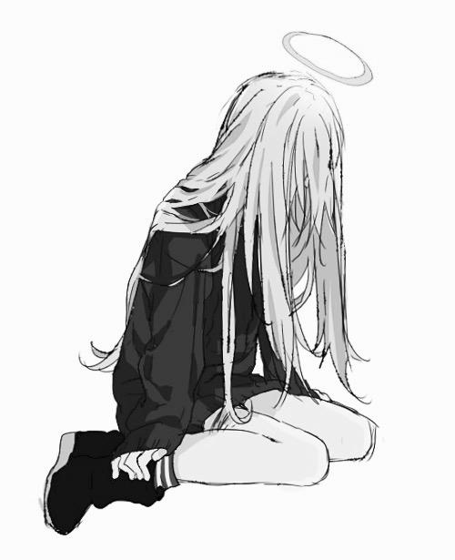 """""""So Sad"""" 45 hình ảnh Anime buồn đen trắng về Boy & Girl đẹp nhất"""