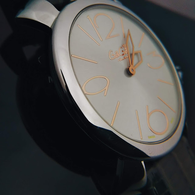 大阪 梅田 イタリア ファッション ウォッチ 腕時計 ガガミラノ GaGa SELECT ラグジュアリー MANUALE THIN マヌアーレシン 5090.01S グレー懐中時計