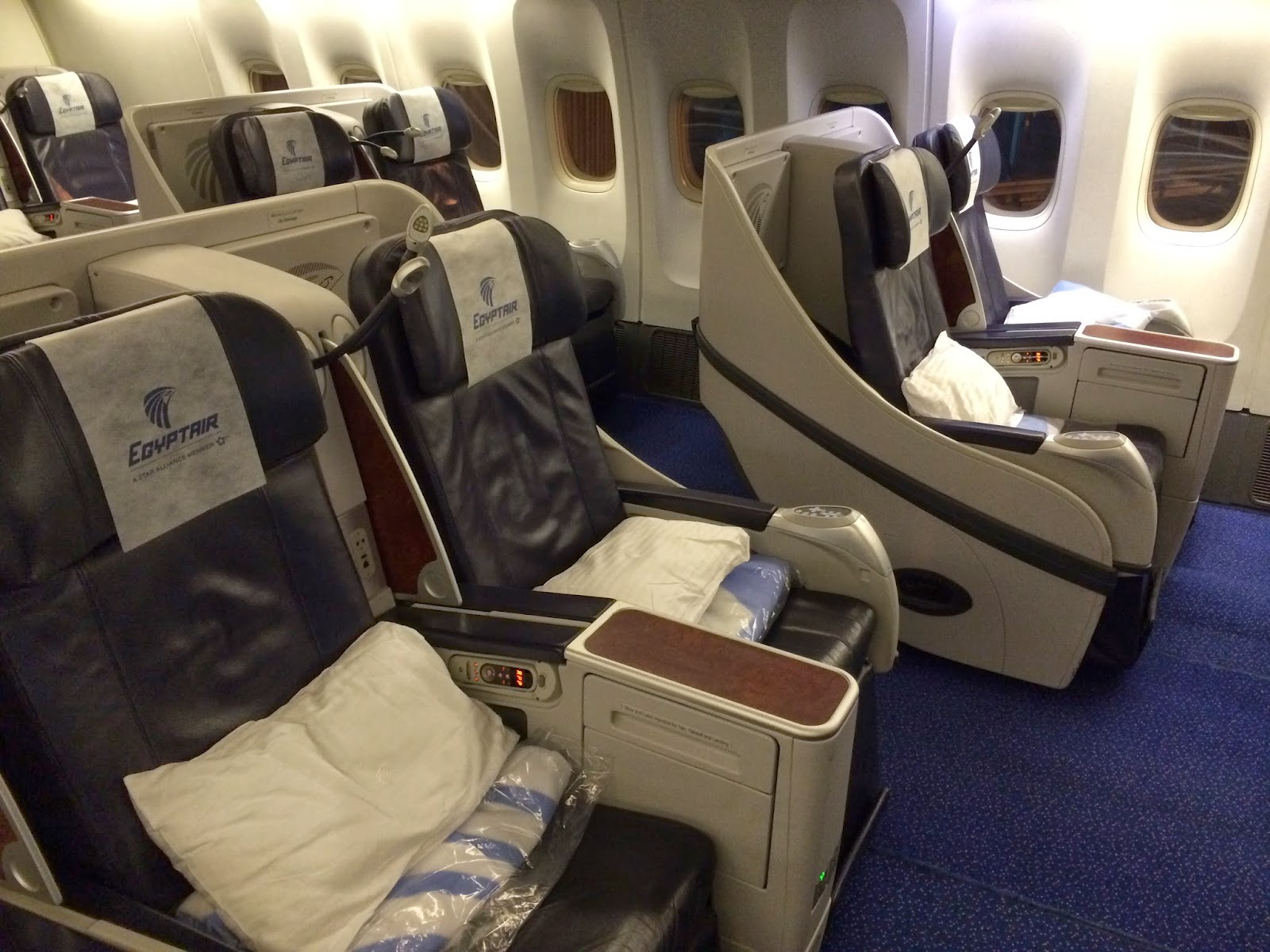 Airline Cabin Egyptair Airlines Business Class Cai
