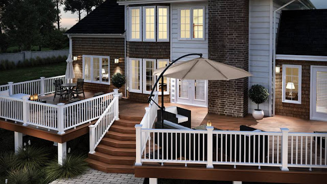 Romantic Backyard Deck Makeover contemporary deck