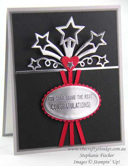 www.thecraftythinker.com.au, Birthday Blast Bundle, Congratulations card, stamped medallion, Stampin Up Australia Demonstrator, Stephanie Fischer, Sydney NSW
