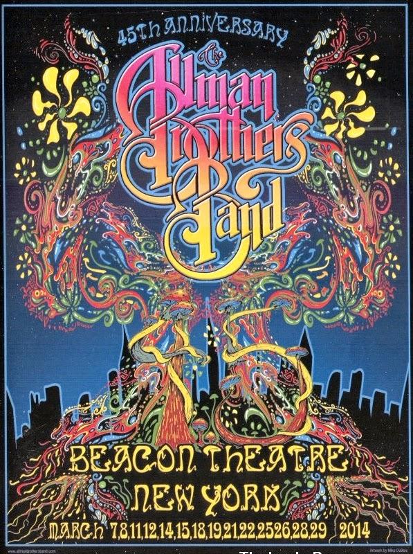 Allman Brothers Tour Poster Sacramento March Th