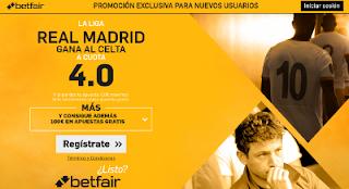 betfair supercuota 4 Real Madrid gana Celta Liga 27 agosto