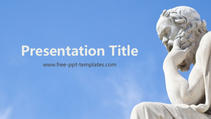 Philosophy powerpoint template toneelgroepblik