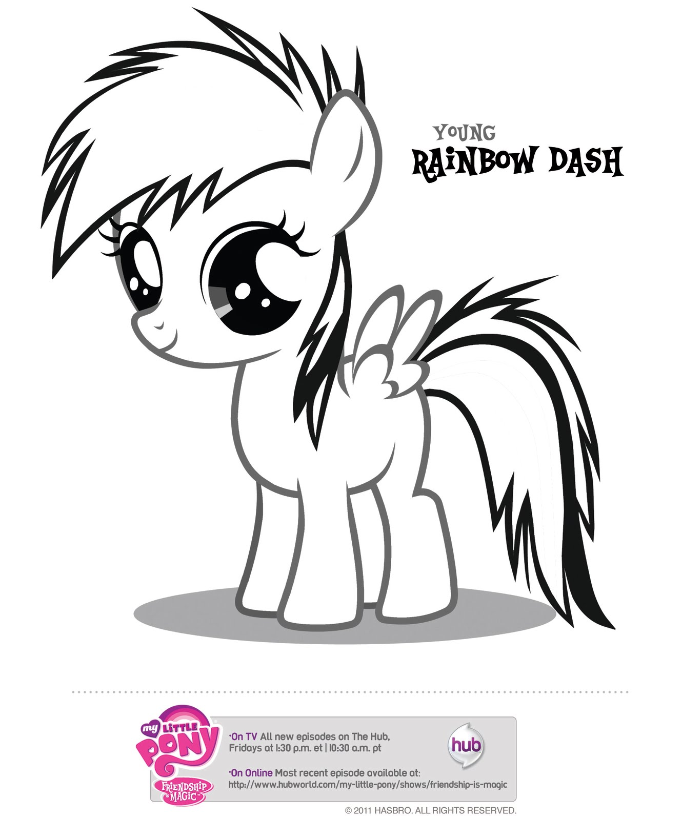 my little pony coloring pages young rainbow dash