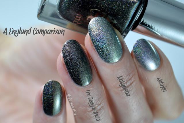 a england nail polish holographic comaprison tennyson's romance