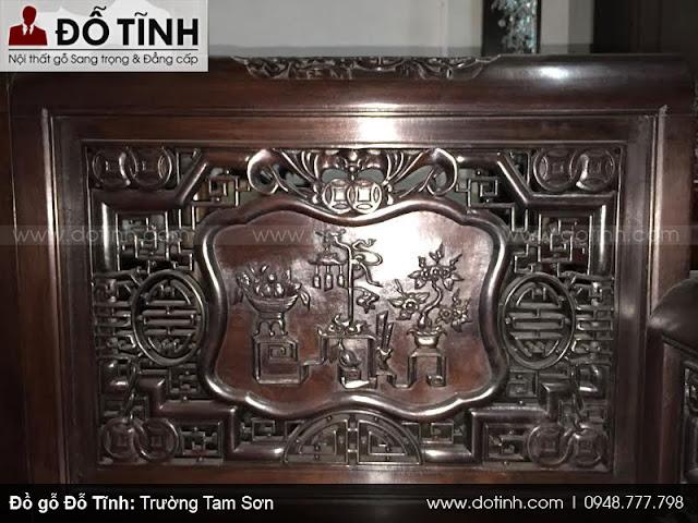 Bộ trường kỷ Tam Sơn đục tay 4 mặt giá 38tr600