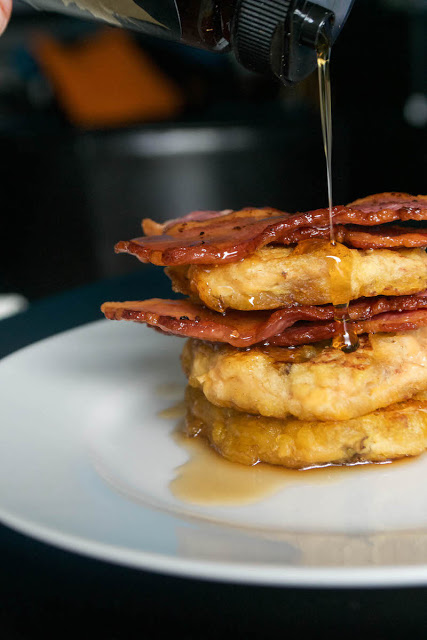 plantain bacon maple pancakes - AIP
