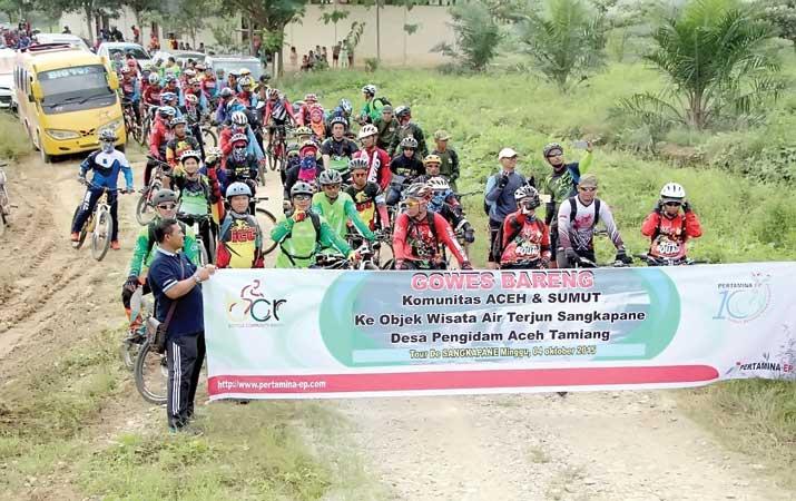 Komunitas Pesepeda Jelajahi Sangka Pane Lentera24 Com