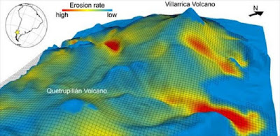 Increase in volcanic eruptions at the end of Ice Age caused by melting ice caps and erosion