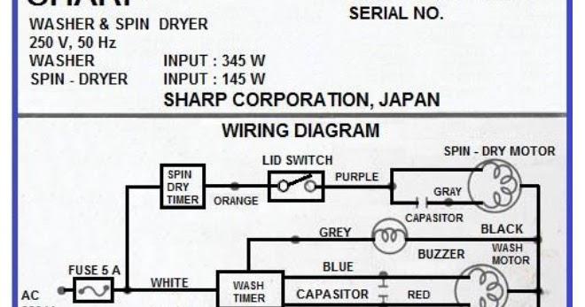 13  Skema Diagram Kelistrikan Mesin Cuci