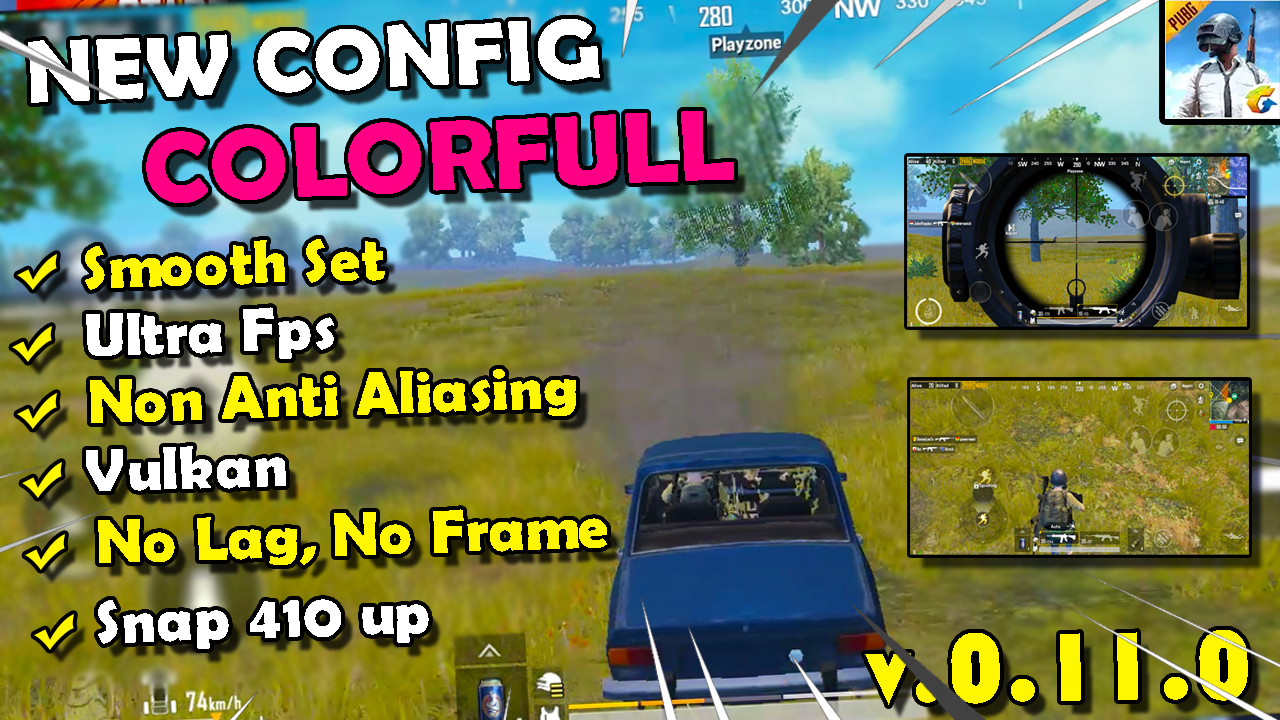 Config Low Smooth Ultra 60fps Colorfull Pubg Mobile No lag Terbaru