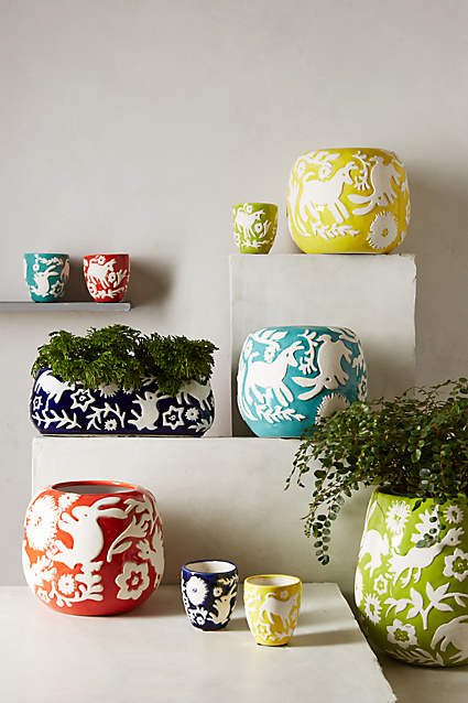 Anthropologie garden Planters