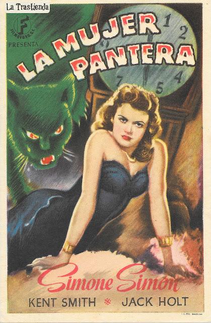 Programa de Cine - La Mujer Pantera - Simone Simon - Ken Smith