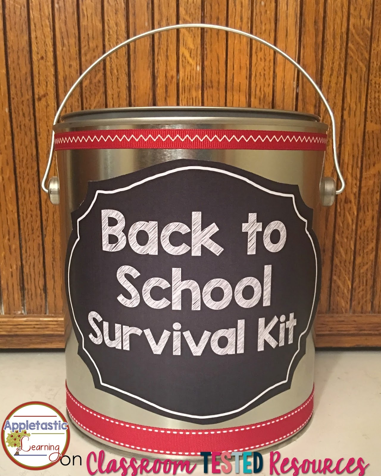 DIY Paint Can Back to School Survival Kit for Teachers - Perfect for teacher gifts