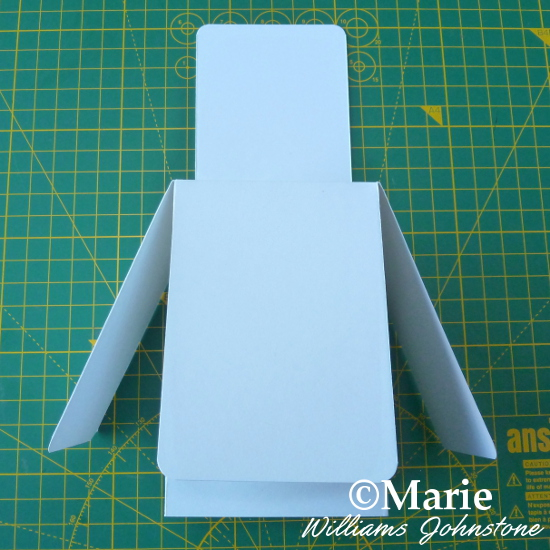 Basic blank handmade DIY pop up box card craft scored and cut by hand
