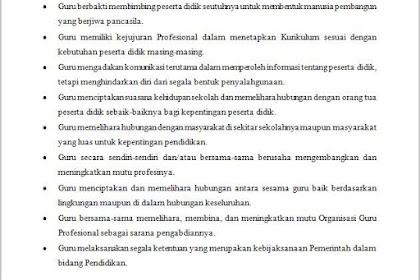 Kode Etik Guru Indonesia Beserta Penjelasannya