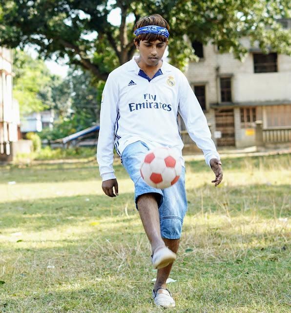 Sourajit Saha and Rick Playing Football 3