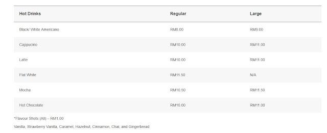 harga kopi costa malaysia