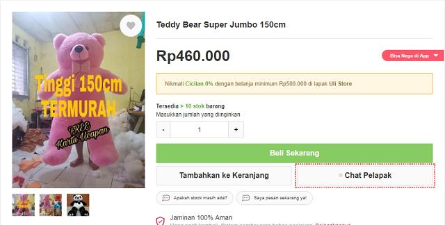 Teddy Bear Jumbo Bukalapak