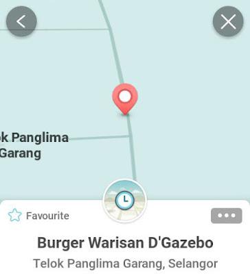 Waze Lokasi Burger Warisan Sijangkang