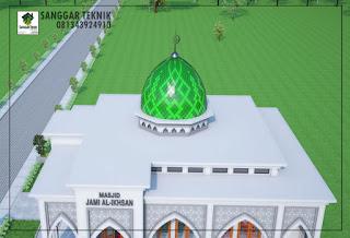 gambar desain masjid minimalis 12x12