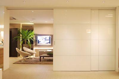 Construindo minha casa clean portas de correr e pain is para dividir salas e cozinhas - Paredes lacadas ...