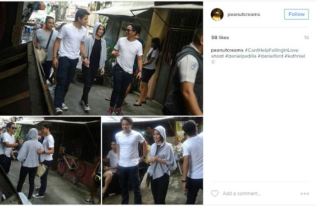 SPOTTED: First Photos of KathNiel's New Movie 'Can't Help Falling In Love'