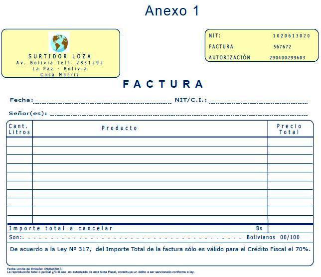 Comunidad de contadores públicos autorizados (auditores) FACTURA EN - formato de factura de venta