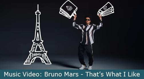 Music Video: Bruno Mars - That's What I Like With Lyrics