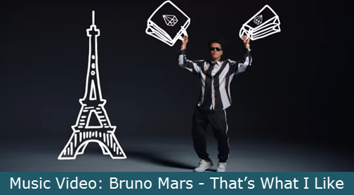 Music Video Bruno Mars That S What I Like With Lyrics