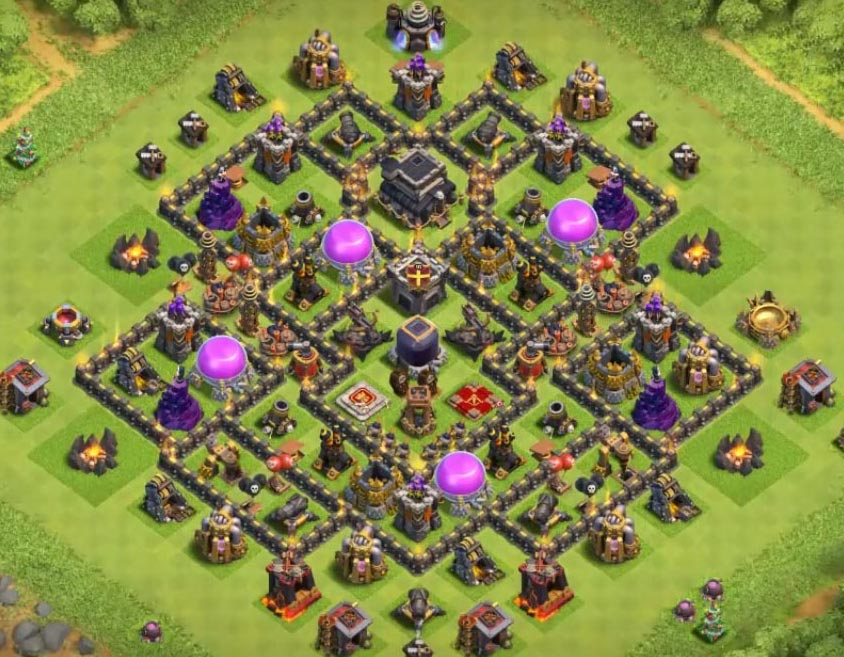 clash of clans th9 base