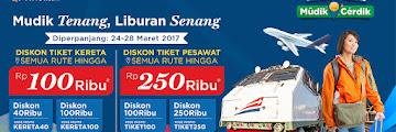 Buruan ! Potongan Harga Tiket Kereta dan Pesawat untuk Mudik 2017 Rp 100 Ribu