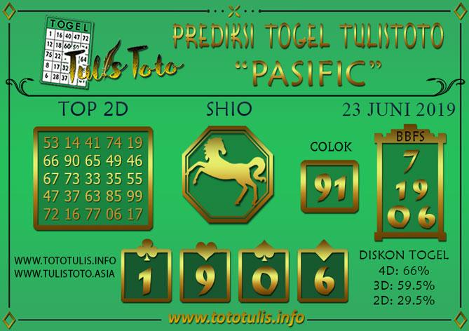 Prediksi Togel PASIFIC TULISTOTO 23 JUNI 2019