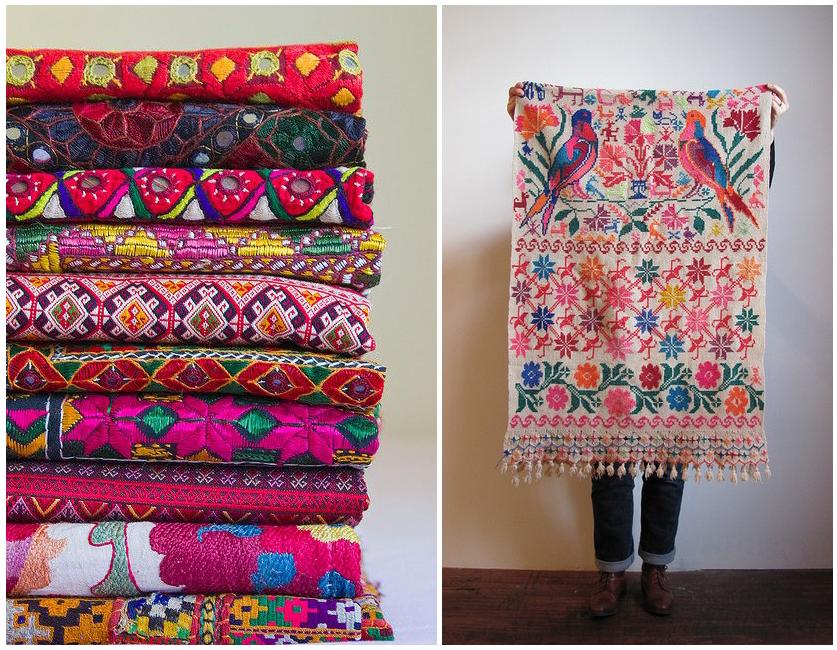 Colores vivos y llamativos en el textil de casa