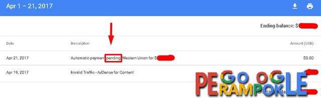 Pending isue google adsense