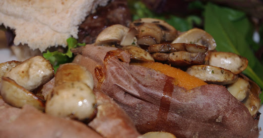 No Love Sincerer...: Tuesday 8th March: Venison burgers with sweet potatoes and mushrooms