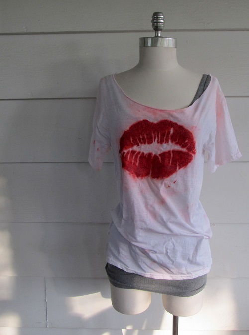 Wobisobi Tye Dye Lip T Shirt Diy
