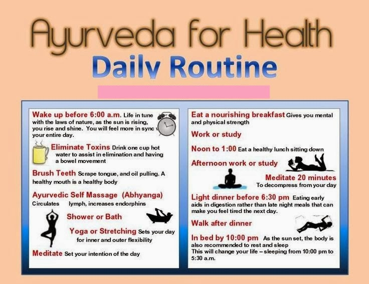 Rasa Yoga Cafe Ayurveda Daily Routine