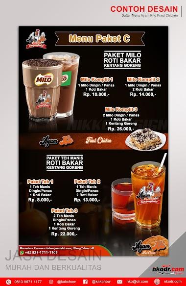Contoh Desain List Menu / Buku Menu/ Daftar Menu Makanan | Percetakan Murah Tanjungbalai