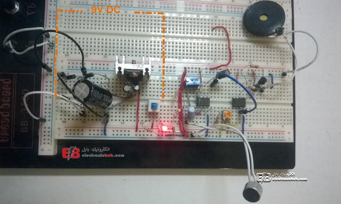 ماسح وكاشف الاهتزازات والموجات الصوتية وتكبيرها باستخدام Op-amp