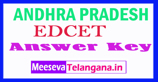 AP EDCET Answer Key 2018 Download: