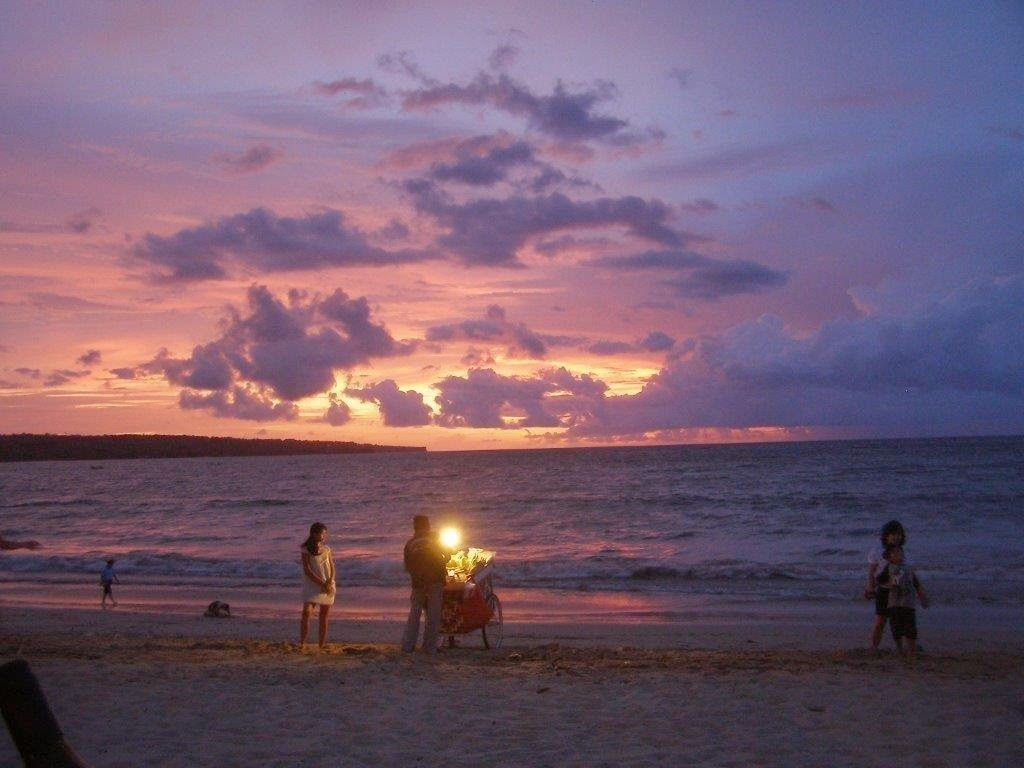 sunset over jimbaram beach
