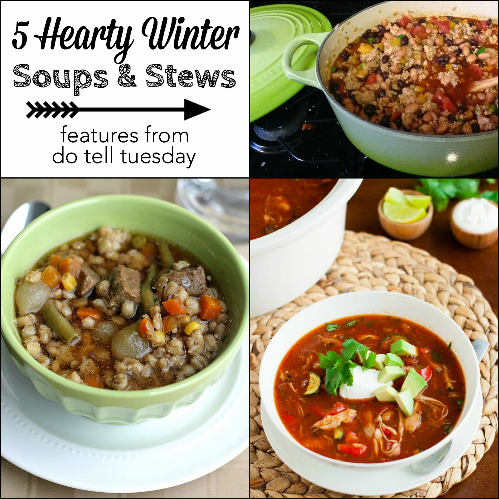 5 Hearty Winter Soups and Stews on Diane's Vintage Zest!